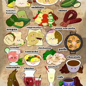 Bebidas y platillos tipicos de Latinoamerica