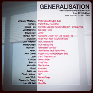 Generalisation Radio Show - June 2018