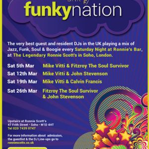 Fitzroy live and in d mix at Funky Nation March 2016