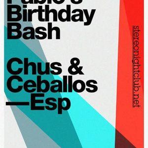 Chus & Ceballos - Live @ Pablo's Birthday Bash, Stereo Club, Montreal, Canadá (29.09.2012)