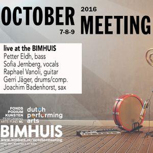 Jernberg/Badenhorst/Eldh/Vanoli/Jäger, live @ October Meeting BIMHUIS 2016