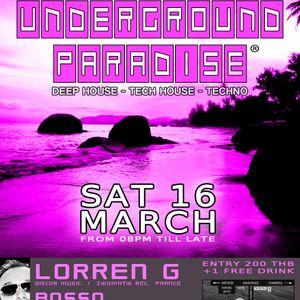 "LORREN G - ""UNDERGROUND PARADISE"" SPRING SESSION"