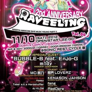 2012.11.10 RAVEELING vol.6  (2nd Anniversary Special Shuffler's Hardstyle mix)