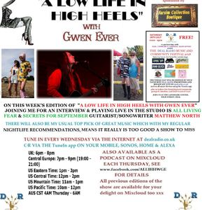 A LOW LIFE IN HIGH HEELS WITH GWEN EVER RADIO SHOW 18TH JULY 2018 EDITION