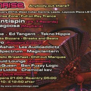 Lee AudioAddictz - Sunrise 23rd feb 2013 - Beatz Bizzare - The Journey Begins