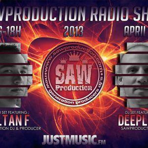 2013.04.21. Deeplevi live at Justmusic.fm @ SawProduction Radio Show