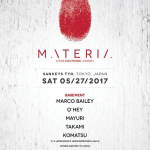 REBOOT presents MATERIA  at Sankeys TYO,Tokyo 27 May. 2017