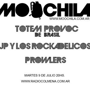 MOOCHILA con PROWLERS, TOTEM PROVOC (Brasil) & JP y LOS ROCKADELICOS