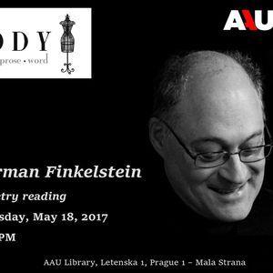 Poetry & Prose Pondělí - Monday 22. May - Norman Finkelstein reading at Anglo-American University