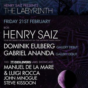Henry Saiz - The Labyrinth 19 Live @ Ministry of Sound London 21-02-2014