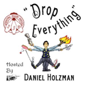 "Nathalie Enterline on ""Drop Everything"" podcast with host Dan Holzman"