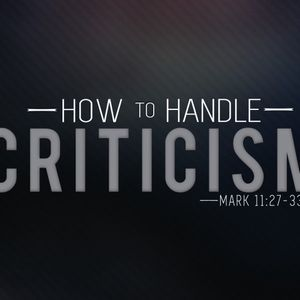 How to Handle Criticism - Audio
