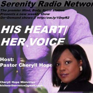 HIS VOICE - HER HEART, Pastor Cheryll Hope