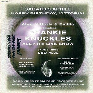 Frankie Knuckles @ Fluid, Bergamo - 03.04.1999
