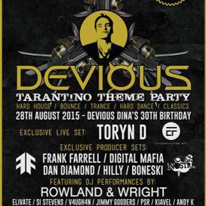 Devious Dina's 30th-Tarantino style (Birmingham)28th Aug 2015 - Alex Matthews Promo mix