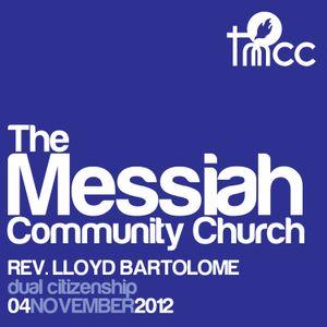 Rev. Lloyd Bartolome - Dual Citizenship [11/04/2012]