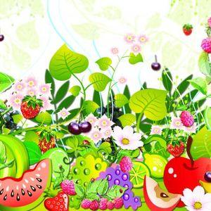 Dust head's fruit in the garden mix