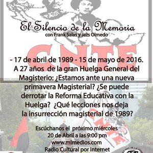 El Silencio de la Memoria 20 de abril de 2016
