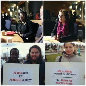 Marie-Christine VERGIAT, Mastou DIALLO et Cécile KYENGE sur les droits humains en Libye