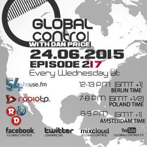 Dan Price - Global Control Episode 217 (24.06.15)