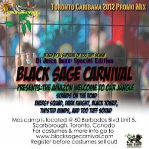 DJ Supreme from Too Tuff Sound – Di Juice Boxx: Toronto Caribana 2012 Blacksage Carnival Promo Mix