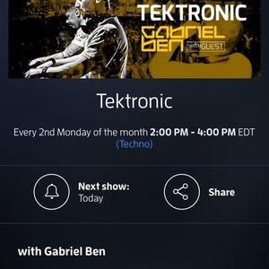 Gabriel Ben Presents Tektronic 078 (October 2015) with guest Lance Blaise/Monix