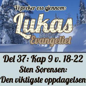 Lukas 9:18-22 – Den viktigste oppdagelsen (Sten Sørensen)