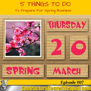 5 things to do to prepare for Spring business