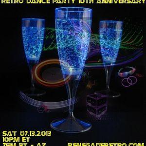 Retro Dance Party 10th ANNIVERSARY Show LIVE on Renegade Retro