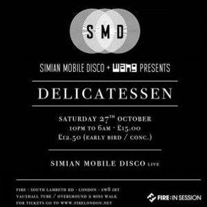 Simian Mobile Disco -Live- (Wichita Recordings) @ Delicatessen, Fire - London (27.10.2012)