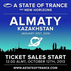 Solarstone – Live @ A State of Trance 650 (Almaty, Kazachstan) – 31.01.2014