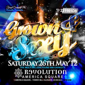 GROWN&SEXY -Sat26thMay@REVOLUTION(TowerHill/AmericaSquare/EC3N2LS)07939296977 BBPIN:221161D8