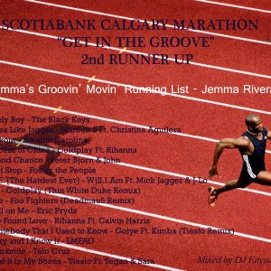 SCOTIABANK CALGARY MARATHON GITG 2nd RUNNER UP - Jemma's Groovin' Movin' Running List - Jemma Rivera