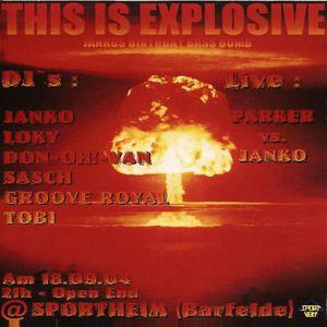 Tobi @ Sportheim Presents This Is Explosive - Sportheim Barfelde - 18.09.2004