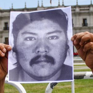London, UK: Luis Andueza about the killing of Camilo Catrillanca by police violence in Chile