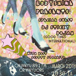 Live on NYC WNYU 89.1 FM Bodyshine Radioshow March 20th 2015