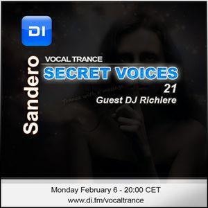 Sandero - Secret Voices 21 DI.FM (Guest DJ Richiere)