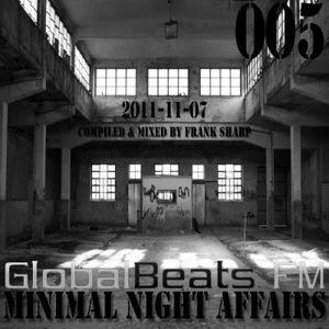 MINIMAL NIGHT AFFAIRS 005 with FRANK SHARP