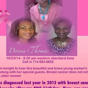 Breast Cancer hear Women tell their Story with Donna Thomas