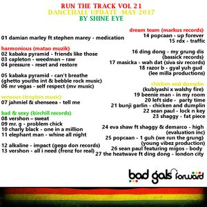 run the track vol 21... dancehall update may 2017