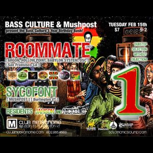 Dj Jahson - a promo mix for Bass Culture 1 yr B-Day Bash w/ Roommate! 2/15/11 @ Metronome BVT