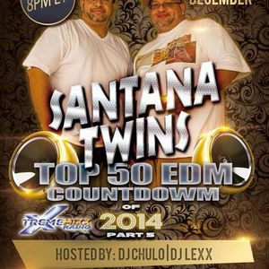Back 2 Da Beat Top 50 #EDM Countdown of 2014 (songs 10-1) special guest Santana Twins 12-23-14