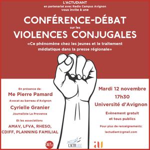 Conférence-débat sur les violences conjugales organisée par l'actudiant - 12/11/19 - rca