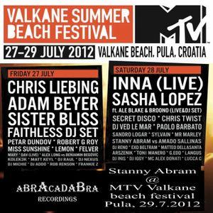 Stanny Abram @ MTV Valkane Beach Festival Pula 29.07.2012