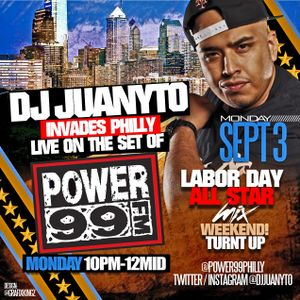 DJ JUANYTO LIVE ON @POWER99PHILLY LABOR DAY ALL STAR MIX WKEND PT4 9/3/12