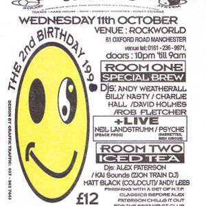 Andrew Weatherall at Herbal Tea Party's 2nd birthday in Manchester's on 11th October 1995.