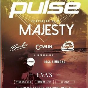Dj Joss Simmons Deep House  Pulse  All Dayer @Evas in Reading July 16th 2017