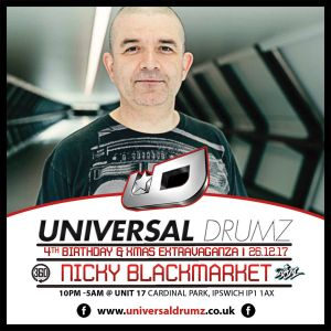 NIcky Blackmarket & Fatman D Live from Universal Drumz at Unit 17 Boxing Day 2017
