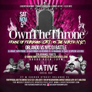 "DJ Zack Live @ Native ""Own The Throne"" NYC vs Orlando"