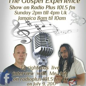dj righteous live interview with me.lion on radioplus 101.5fm uk